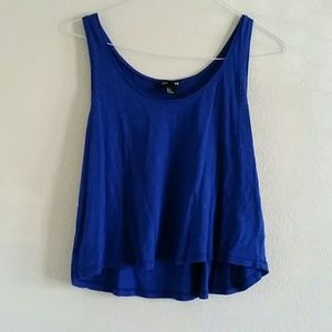 H&M Basic Royal Blue Cutoff Tank S